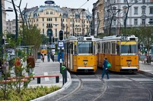 Trams in Boedapest