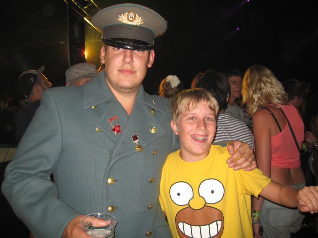 Russische Douane op Sziget Festival